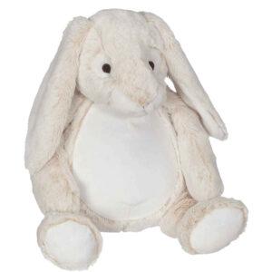 Beauté - lapin beige pâle peluche à broder et personnaliser - Boutique | Broderie Amé Design