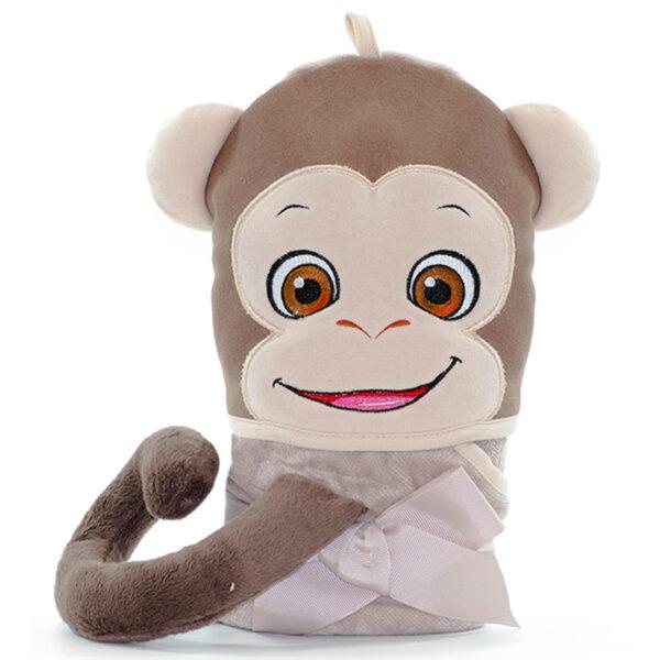 Serviette singe roulée - serviette à broder et personnaliser | Broderie Amé Design