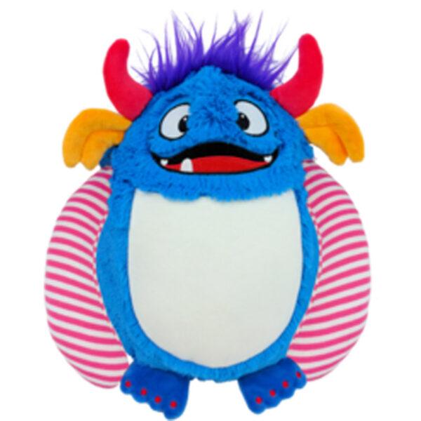 Tornade - monstre bleu et rouge peluche à broder et personnaliser - Boutique | Broderie Amé Design