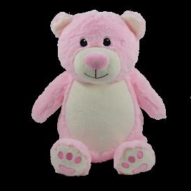 Bébé Rose - ourson rose peluche à broder et personnaliser - Boutique | Broderie Amé Design
