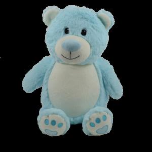 Bébé Bleu - ourson bleu peluche à broder et personnaliser - Boutique | Broderie Amé Design