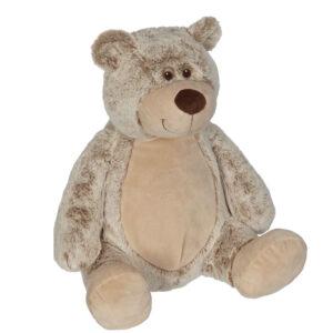 Benji - ourson brun-beige peluche à broder et personnaliser - Boutique | Broderie Amé Design