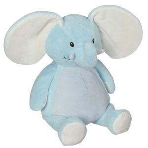 Elmer - éléphant bleu peluche à broder et personnaliser - Boutique | Broderie Amé Design
