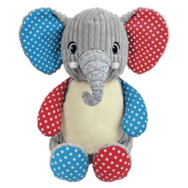 Fan Fran - éléphant gris à motifs peluche à broder et personnaliser - Boutique | Broderie Amé Design