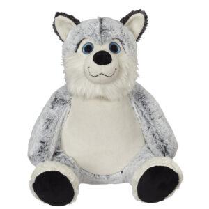 Hercule - chien husky peluche à broder et personnaliser - Boutique | Broderie Amé Design