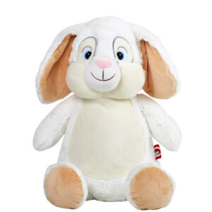 Jeannot - lapin blanc peluche à broder et personnaliser - Boutique | Broderie Amé Design