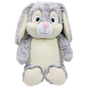 pampam | peluche lapin gris à broder et personnaliser