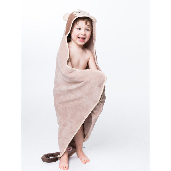 serviette singe pleine grandeur - serviette à broder et personnaliser | Broderie Amé Design