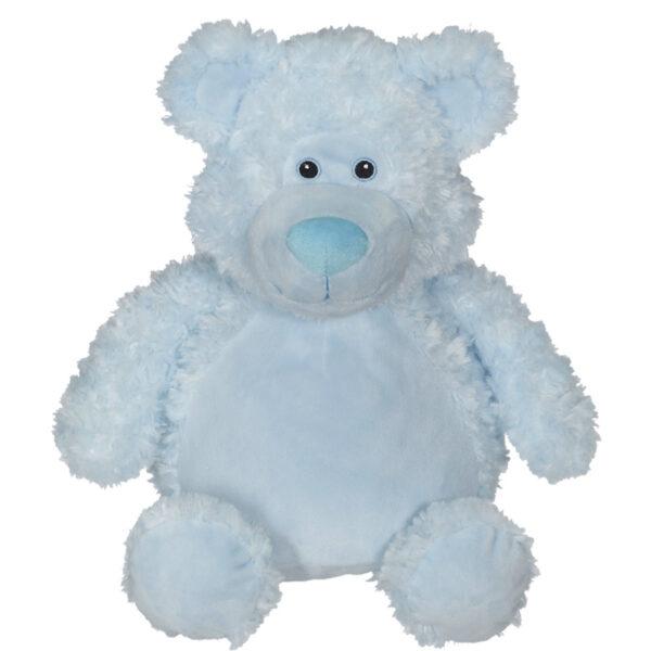 Pouky - ourson bleu peluche à broder et personnaliser - Boutique | Broderie Amé Design