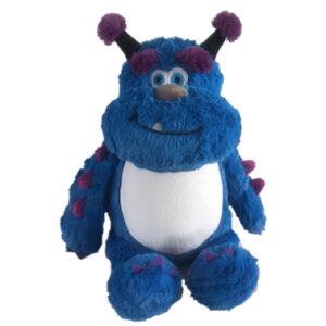 Solly - monstre bleu peluche à broder et personnaliser - Boutique | Broderie Amé Design