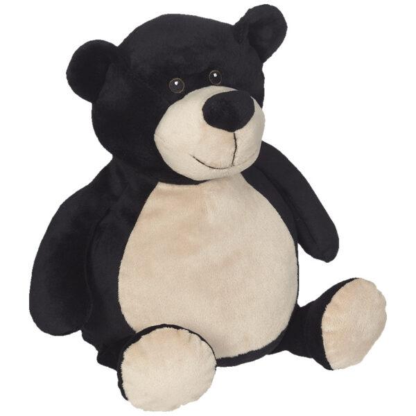Bilou l'ours noir - peluche à broder et personnaliser | Broderie Amé Design
