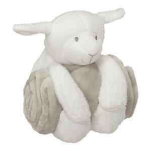 duo doudou et peluche à broder et personnaliser - Mouton | Broderie Amé Design