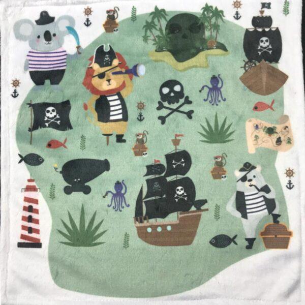 Exclusif | Doudou en minky - Pirates à broder et personnaliser | Broderie Amé Design
