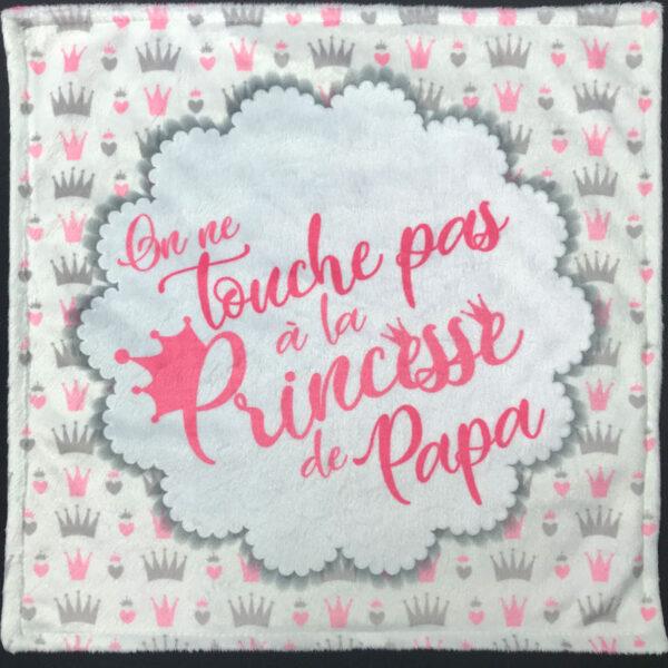 Exclusif | Doudou en minky - princesse à papa à broder et personnaliser | Broderie Amé Design