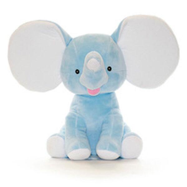 Éléphant à grandes oreilles bleu | Peluche à broder et personnaliser | Broderie Amé Design