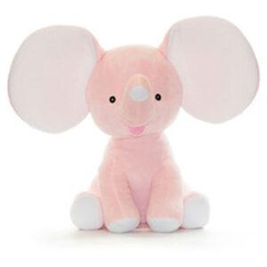 Éléphant à grandes oreilles rose | Peluche à broder et personnaliser | Broderie Amé Design