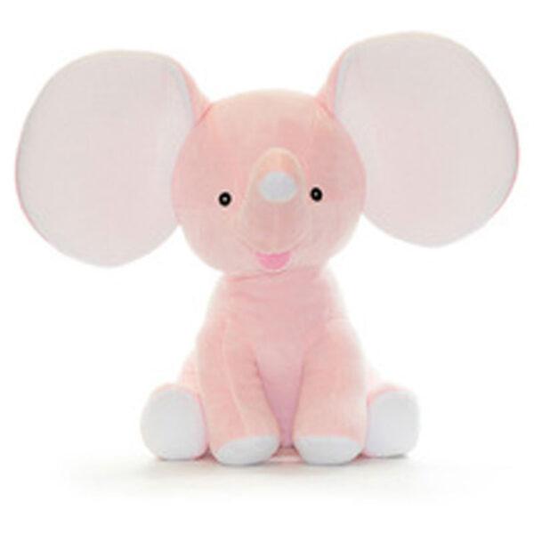 Éléphant à grandes oreilles rose   Peluche à broder et personnaliser   Broderie Amé Design