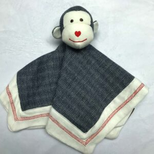 Doudou singe - Style lainage gris foncé | Doudou à broder et personnaliser | Broderie Amé Design