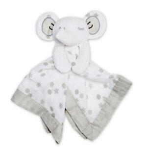 Doudou en mousseline - Éléphant blanc | Doudou à broder et personnaliser | Broderie Amé Design