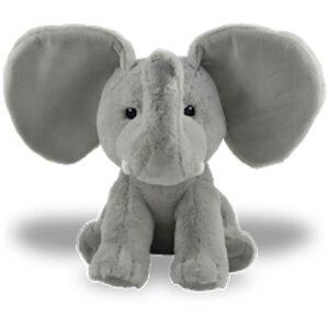 Peluche à broder et personnaliser | Toutou Grisou l'éléphant à grandes oreilles | Broderie Amé Design