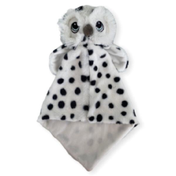Hakim le harfang des neiges - petite doudou à broder et personnaliser   Broderie Amé Design